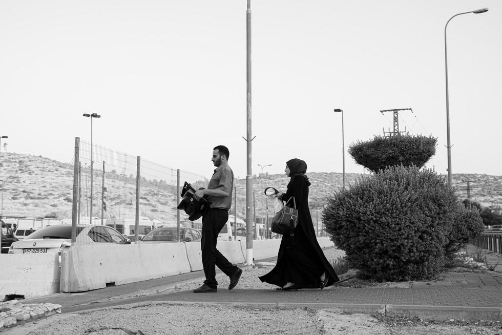 """18/6/2019 איסוף המשפחה ממחסום תרקומיא. נסיעה לביה""""ח תל השומר"""