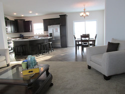 Living Room, Kitchen, and Dining Room