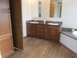 429 Master Bathroom Linen Closet and Double Sinks