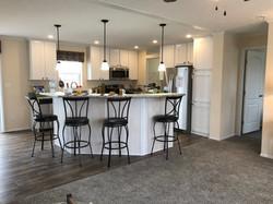 Kitchen with Angled Island