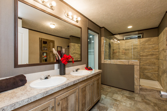 Master Bath with Walk-in Tile Shower