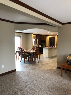 View of Dining Room & Kitchen