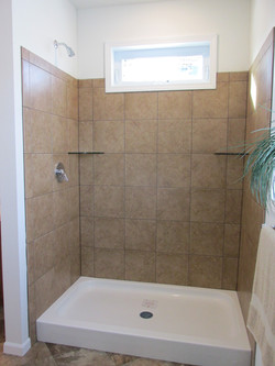 Master Shower with Transom Window