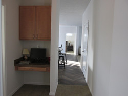 Hallway Desk with Overhead Cabinet