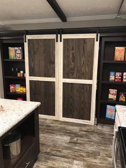 Barn Doors in Kitchen