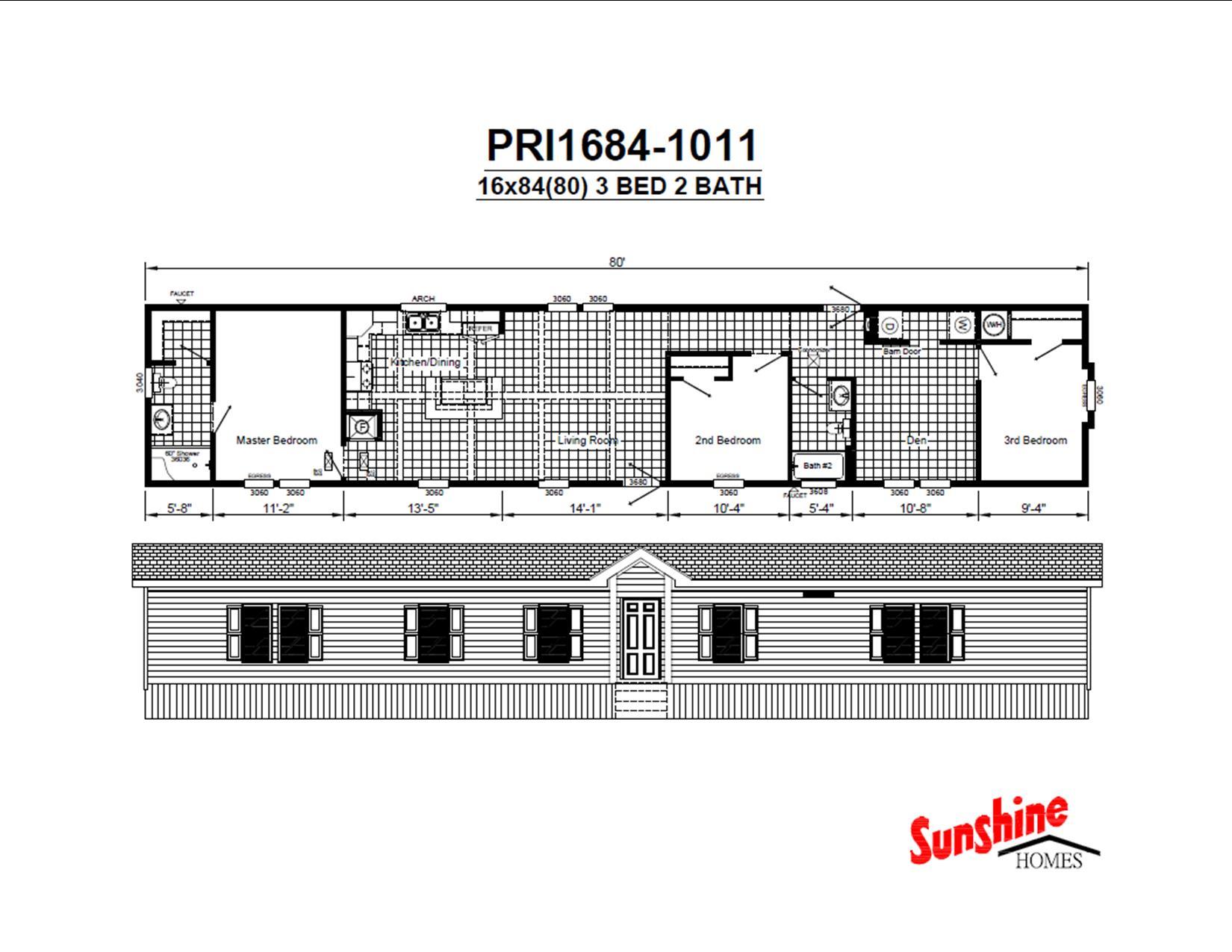 PRI1684-1011 Floor Plan