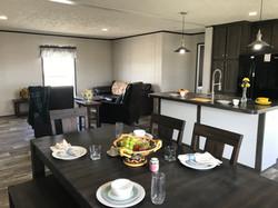 Dining Room, Kitchen, & Living Room
