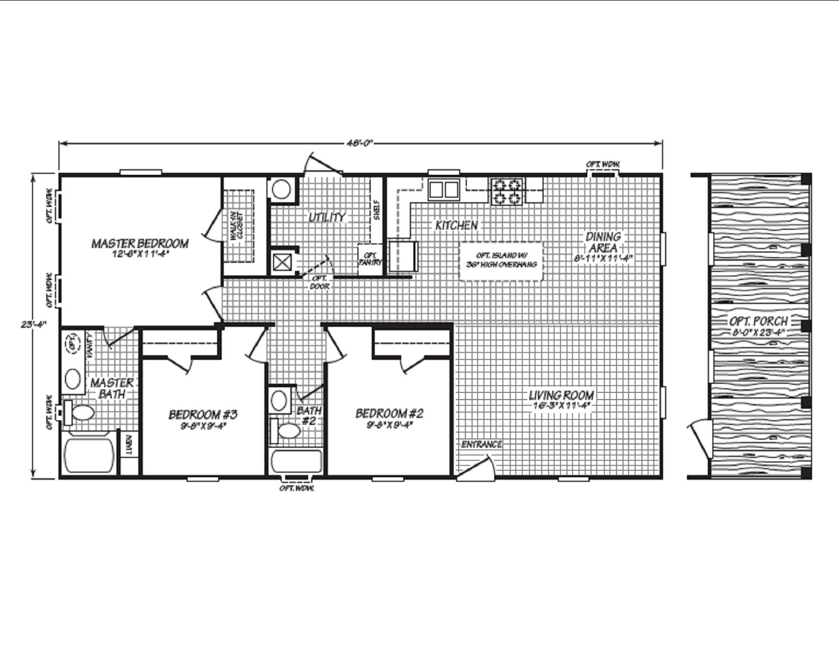 434 Fleetwood 24483P Floor Plan