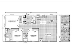 434 Fleetwood 24483P Floor Plan