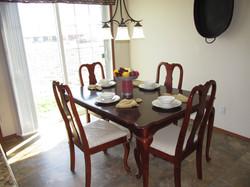 Dining Room with Sliding Glass Door