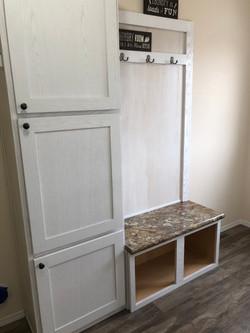 Utility Locker Bench & 3 Door Pantry