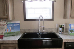 Kitchen with Black Farmers Sink