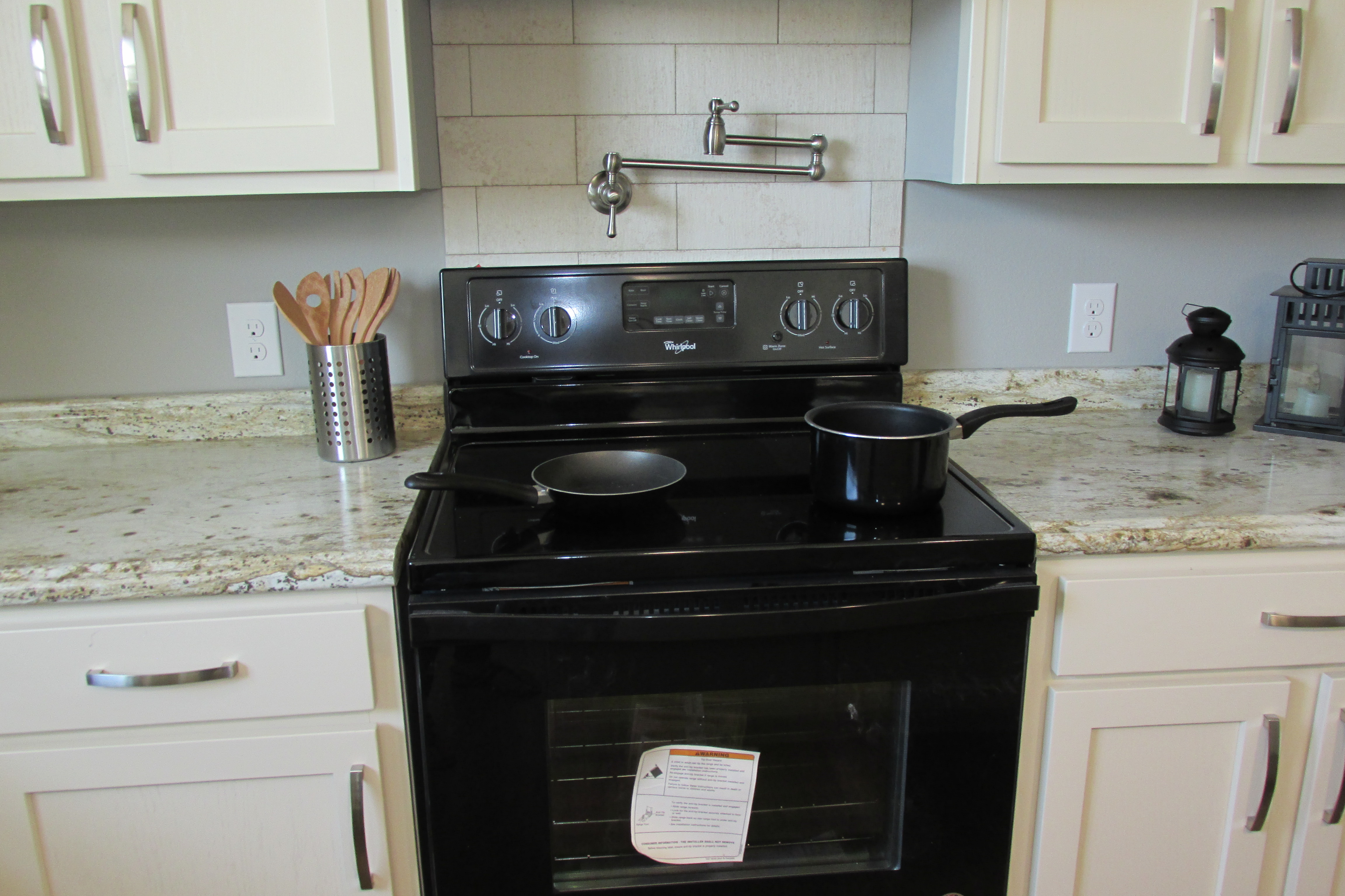 Pot Filler & Ceramic Backsplash