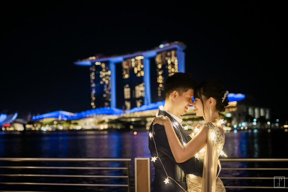 marina bay sands pre wedding