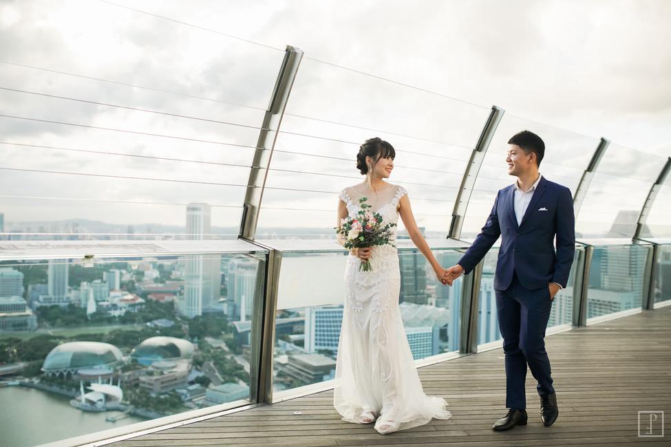 marina bay sands pre wedding