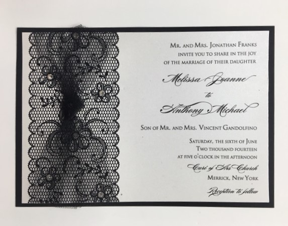 Tulle and Lace Wedding Invitation