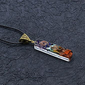 Merkaba 7 Chakras Crystal Stones Orgone Pendant Generator Energy Accumulator Or