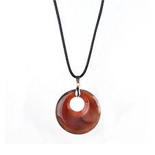 Dalmation Jaspers Pendant Natural Gem Stone Necklace Charms Healing Chakra Amul