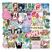 50PCS Love And Peace Graffiti Stickers World Peace For Car Styling Bike Phone L