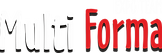 MUlti Forma logo bijelo crveni crna sjen