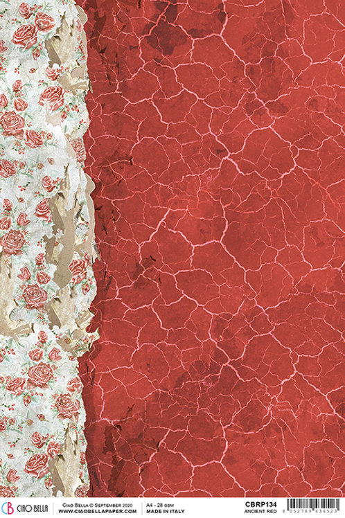 Ciao Bella Rice Paper A4 - Ancient Red, CBRP134