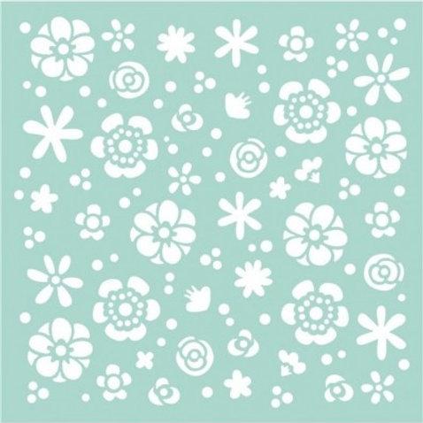 Stamperia Stencil - Johanna Rivero - Flowers , KSTDQ33