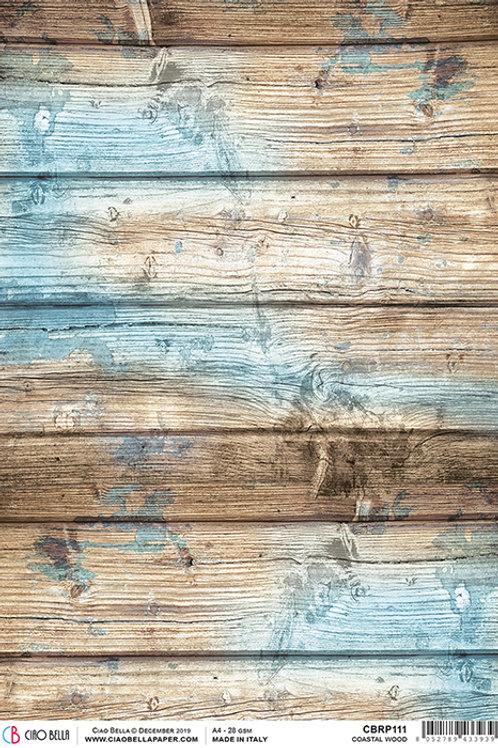 Ciao Bella A4 Rice Paper - Coastal Wood CBRP111