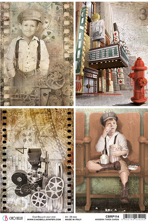 Ciao Bella A4 Rice Paper -Modern Times Cards CBRP114