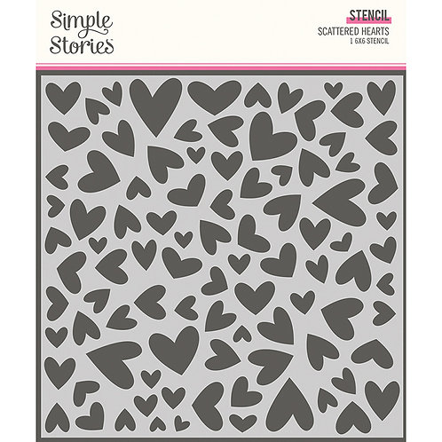 Simple Stories - Scattered Hearts, SSS14325