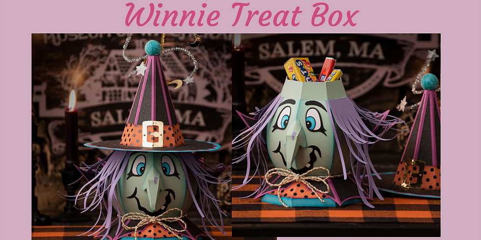 3D Paper Connection - Winnie Witch Treat Bowl