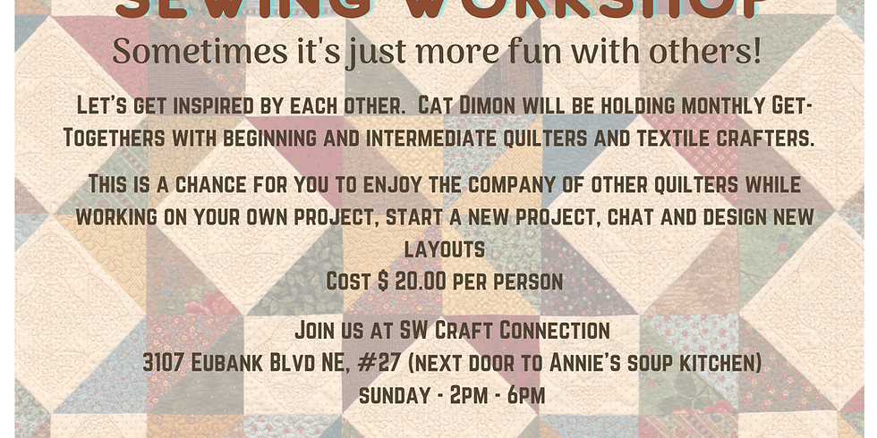 Patchwork Quilt Piecing Monthly Workshop