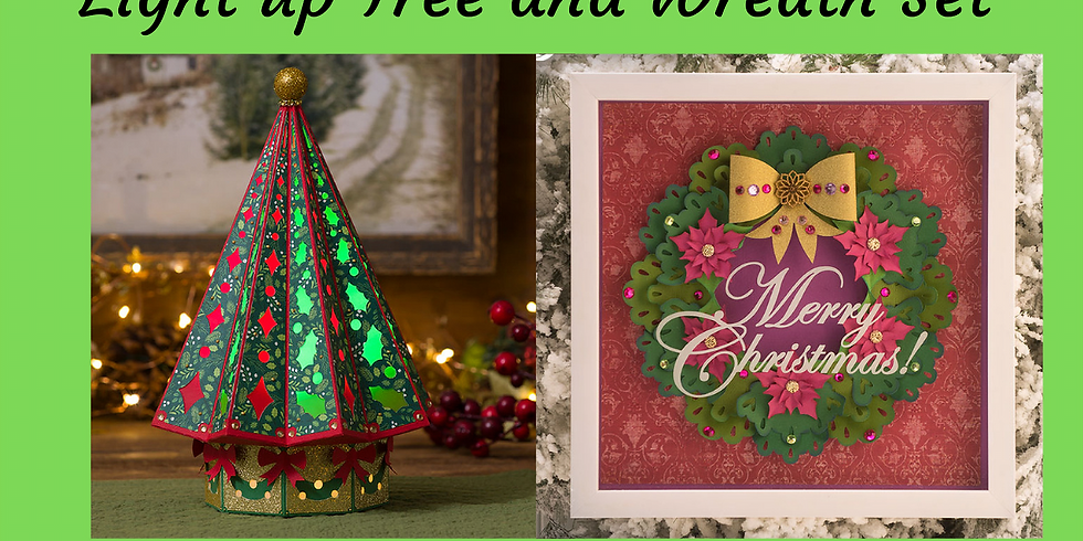 3D Paper Connection - Light up Tree & Wreath Set