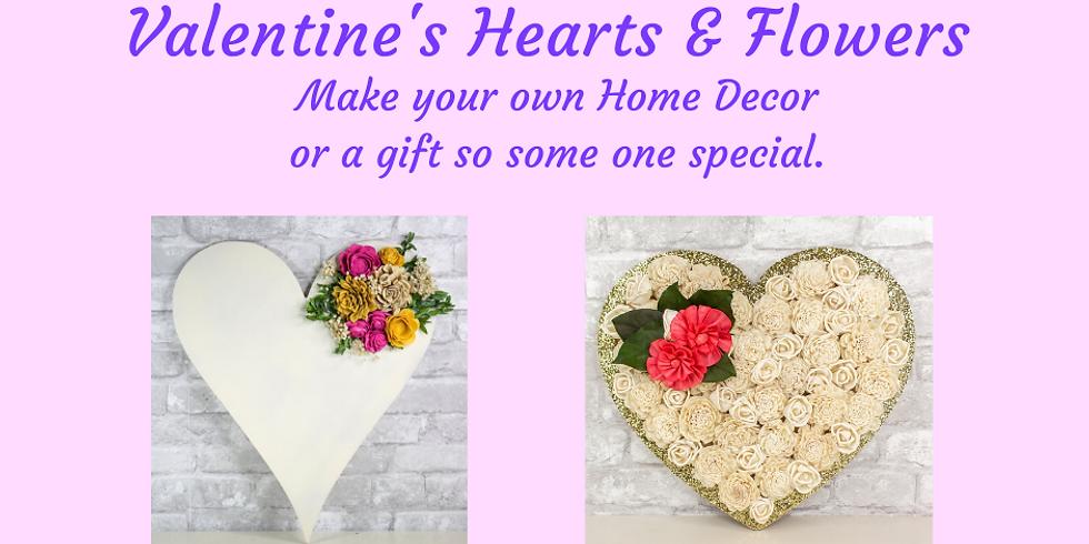 Valentine's Hearts & Flowers