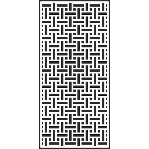 Creative Expressions - Slimline Stencils Basket Weave, CEST037