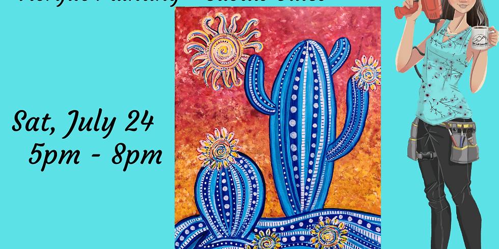 Acrylic on Canvas - Cactus Blues