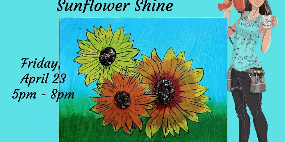 Shattered Creations Glass Art - Sunflower Shine