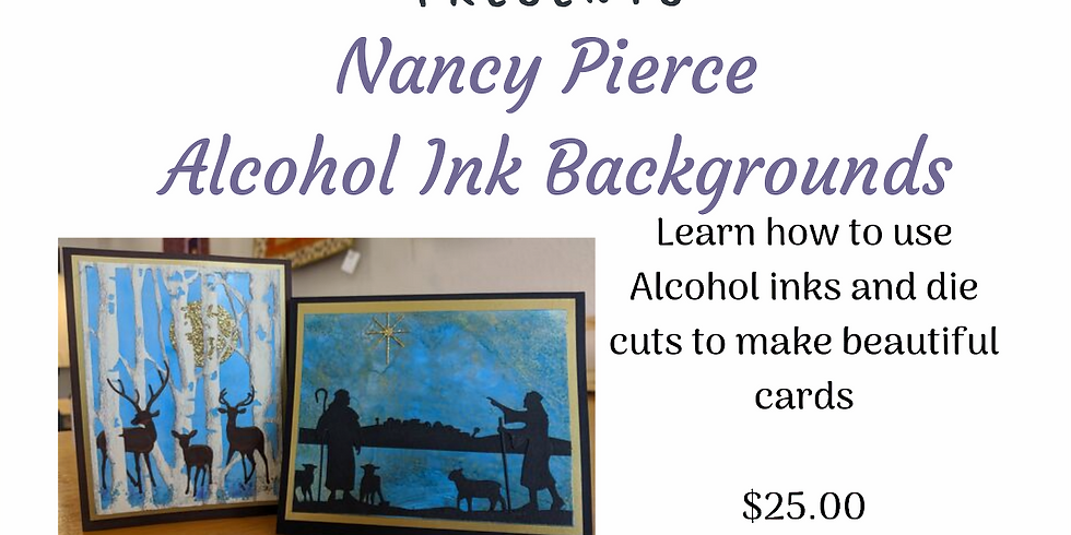 Alcohol Ink Card Backgrounds