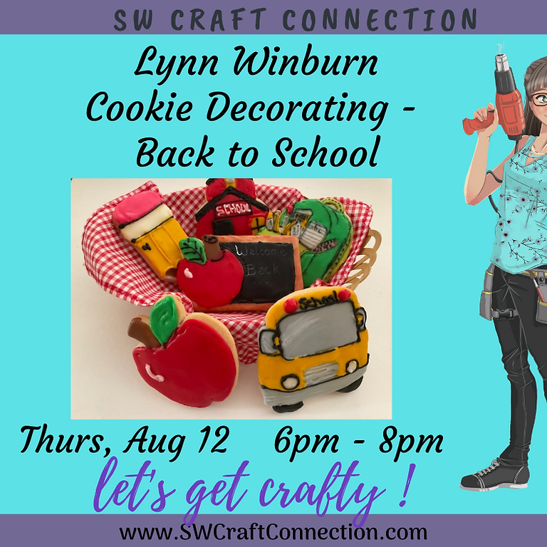 Cookie Decorating - Back to School Basket