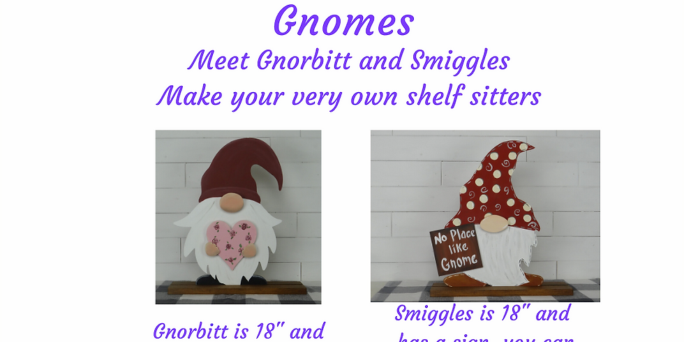 Paint Your Gnome Shelf Sitter