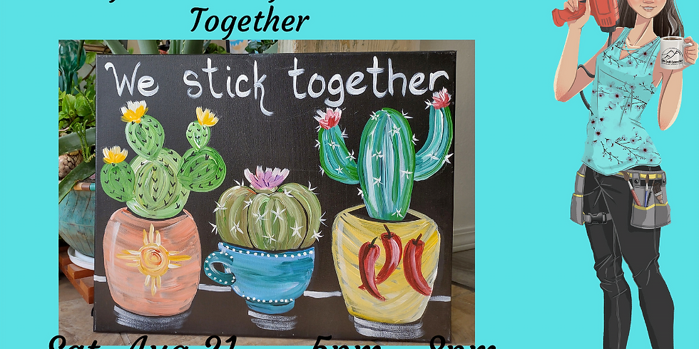 Acrylic on Canvas - We Stick Together