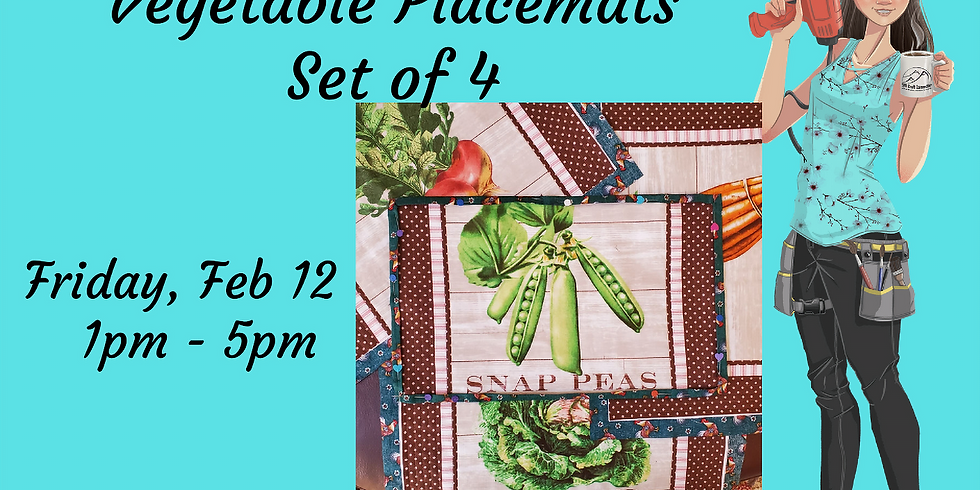 Vegetable Placemats - Quilting 101