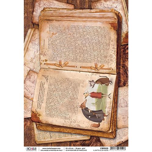 Ciao Bella - Rice Paper A4 -Pinocchio - Adventure Di Pinocchio, CBR020