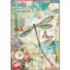 Stamperia A4 Decoupage Rice Paper - Dragonfly DFSA4309