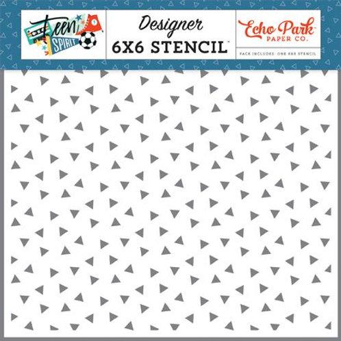 Echo Park - Epic Triangles Stencil, TSB185033
