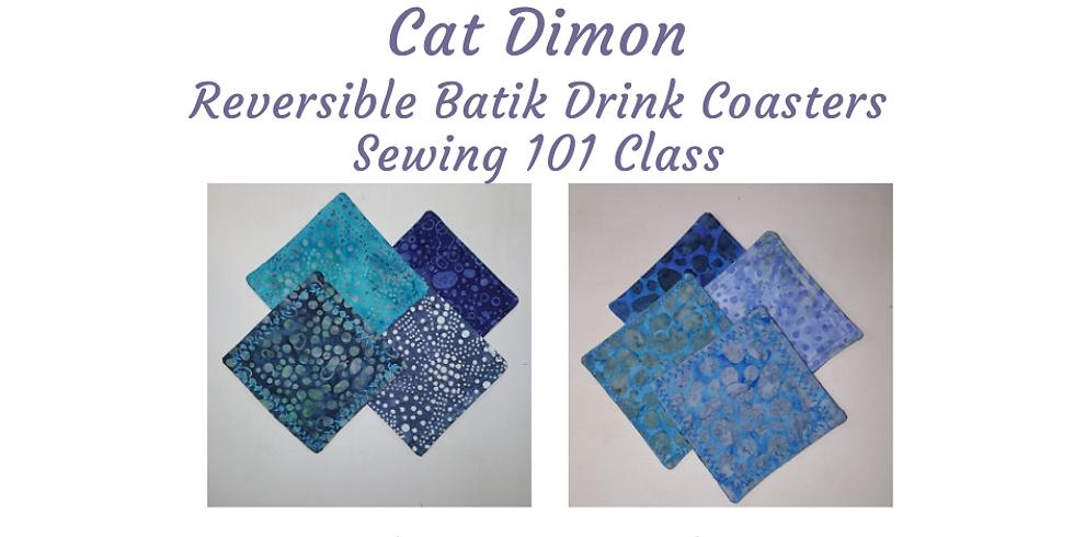 Sewing 101 Class: Reversible Batik Drink Coasters