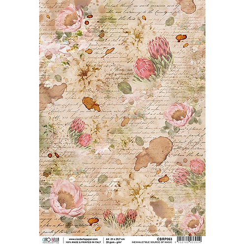 Ciao Bella -A4 Rice Paper - The Muse - Inexhaustible Source of Magic, CBRP063