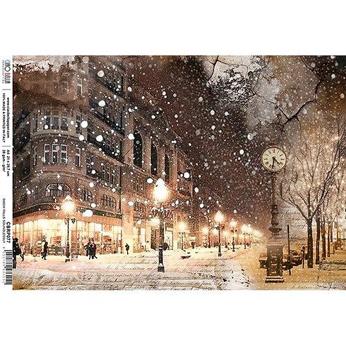 Ciao Bella A4 Rice Paper - Snow Falls Soundlessly, CBRP077