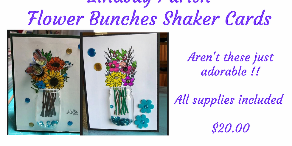 Flower Bunches Shaker Cards