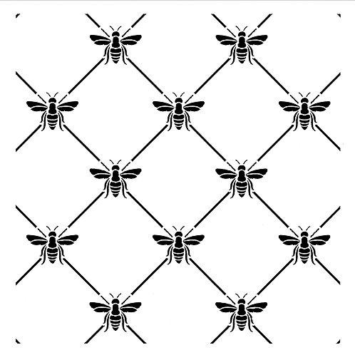 Posh Chalk Stencil - Bee Poshitive (Bee Trellis)