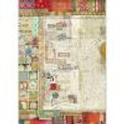 Stamperia A3 Decoupage Rice Paper - Writings DFSA3044